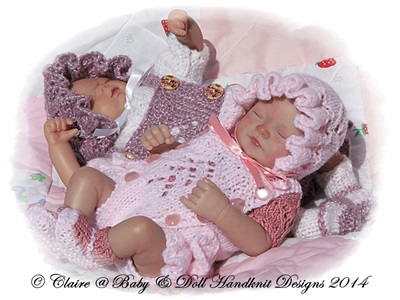 Frilled Romper Suit Set 7-12 inch doll