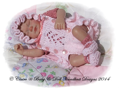Frilled Romper Suit Set 7-12� doll-