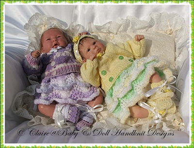 Frilled Skirt & Crossover Cardi Set 10-16 inch doll
