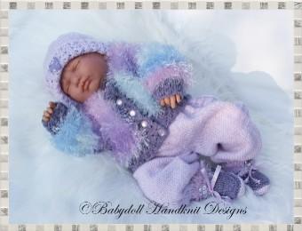 Furry Jacket & Trouser Suit 19-22 inch dolls/0-3m baby