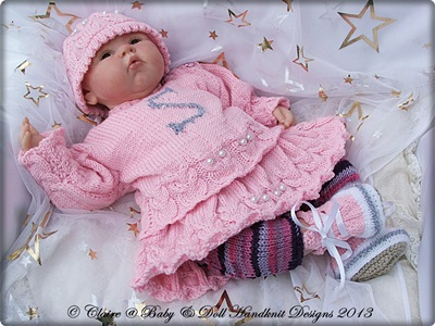 Hermione Initialled Sweater Set 16-22 inch dolls/0-3m+ baby