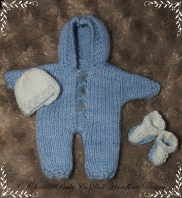 Hooded All-in-One for 4-7 inch dolls