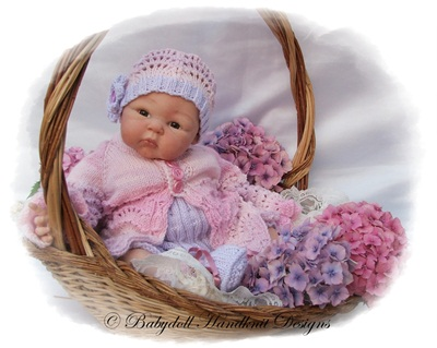 'Lilac Lace' 16-22 inch doll/0-3m baby
