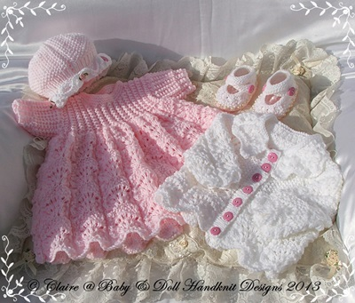 Lacy Dress & Jacket Set 16-22 inch doll