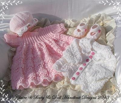 Lacy Dress & Jacket Set 16-22 inch doll