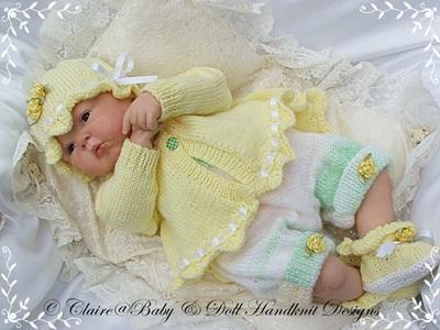 Lacy Edged Summer Jacket Set 17-22 inch doll/newborn/0-3m baby