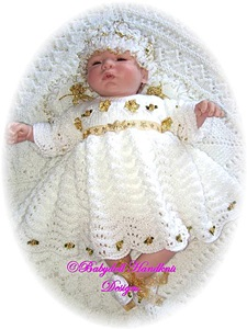 Christmas Angel Outfit knitting pattern 16-24 inch dolls