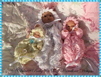 Bunting & Bonnet for 5-8 inch Berenguer dolls