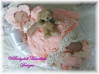 'Leafy Lace' Summer set 16-24 inch doll/newborn/0-3m