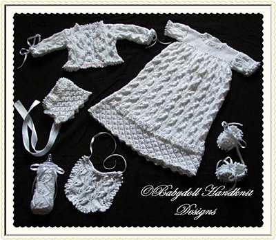 Christening/Special Occasion Set 0-9m baby /16-28 inch doll