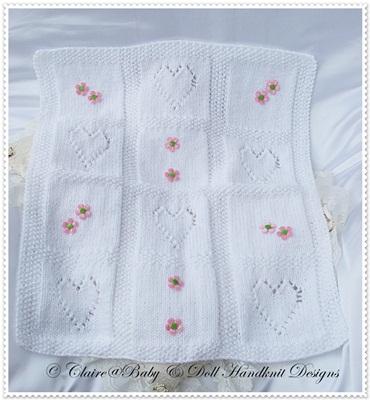 Pram Blanket in Aran or Chunky Yarn