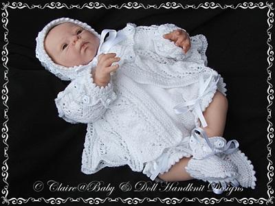Anne-Marie Matinee set 18-24 inch doll/newborn/0-3/3m+ baby