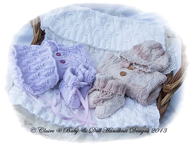 Newborn Gift Set Cardi, Hat, Bootees & Car Seat Blanket