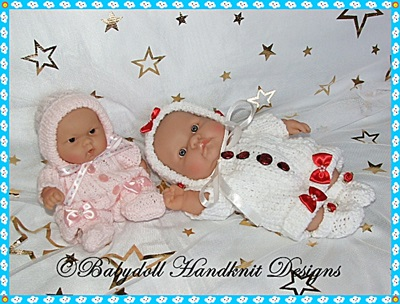 Shortie All-in-One Set 8&10 inch Chubby Berenguer Doll-chubby berenguer, knitting pattern, doll