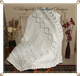 Panelled Shawl/Baby Blanket (Approx 1m Square)
