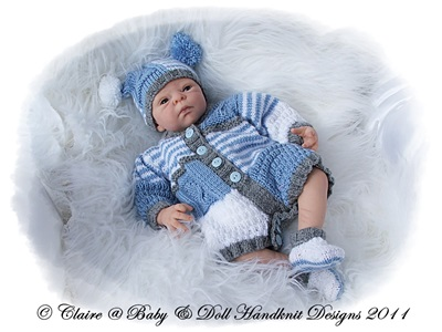 Patchwork Romper 12-18 inch doll/preemie baby