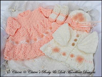 Dress & Jacket Set for 16-20 inch doll/preemie/newborn baby