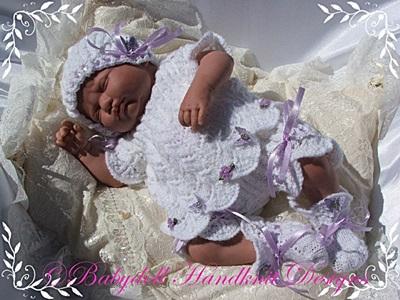 Lacy Pixie Set 16-22 inch doll/newborn/0-3m baby