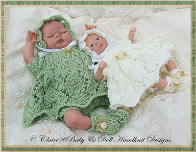 Lacy Dress & Pixie Hat Set 6-11 inch dolls