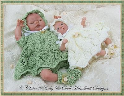 Lacy Dress & Pixie Hat Set 6-11 inch dolls