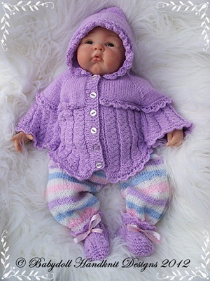 Hooded Poncho Outfit 19-22 inch doll