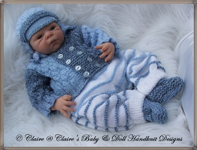 Pram Set for 14-18 inch doll/preemie baby boy