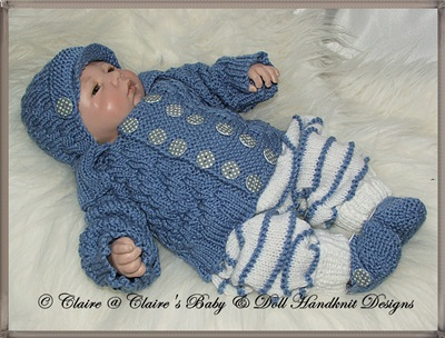 Pram Set for 14-18 inch doll/preemie baby boy