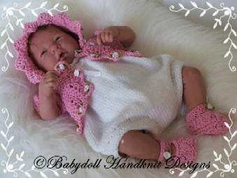 Romper & Bolero Set 10-16 inch dolls/preemie baby