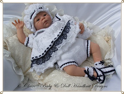 Sailor Dress Set 14-18 inch doll/preemie/newborn baby