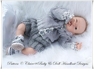 'Shades of Grey' 19-22 inch doll/0-3m baby