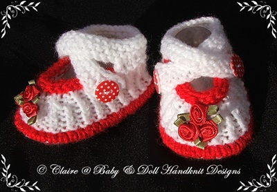 Shoes, sandals and bootees for 16-22� doll (preemie-3m baby)-shoes, knitting pattern, sandals, bootees