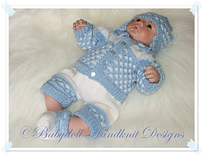 Shorts & Jacket Set 16-22 inch doll/newborn/0-3m baby