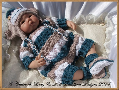 Sock Monkey Set for 16-22� doll-sock monkey, reborn, knitting pattern, baby, doll