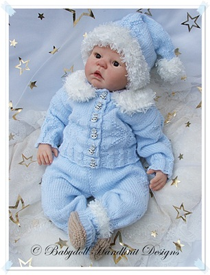 'Christmas Star' Outfit 19-22 inch doll/0-3m baby