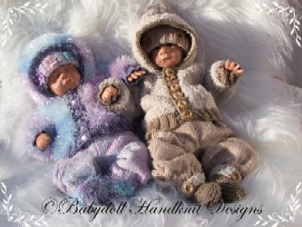 Suit with fur jacket 14-16 inch doll or preemie baby