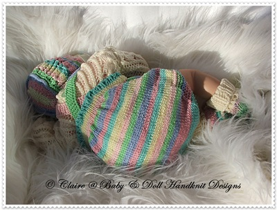 Traditional Romper Set 16-22 inch doll (preemie-3m+ baby)