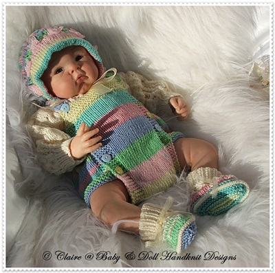 Traditional Romper Set 16-22 inch doll (preemie-3m+ baby)