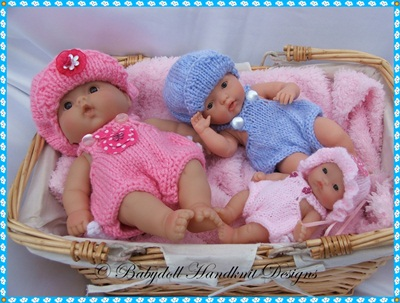 Sunsuit and hat set for Chubby 5-8 inch Berenguer Dolls-