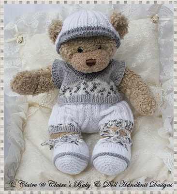 Slipover and Shorts Set 16� Teddy Bear/Bunny-teddy, knitting pattern, build a bear