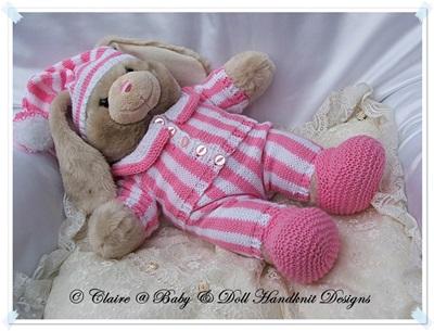 Bedtime Set 16-17 inch Build A Bear Teddy Bear/Bunny