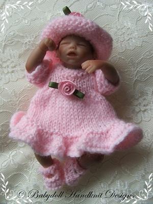 Frilled Summer Dress 4-7 inch dolls