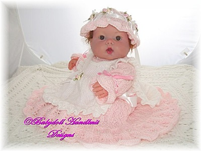 'Baby Victoria' knitting pattern to fit 16-22 inch doll or 0-3m+ baby