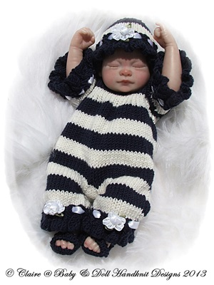 Victorian Style Summer Swim Set 9-14 inch doll