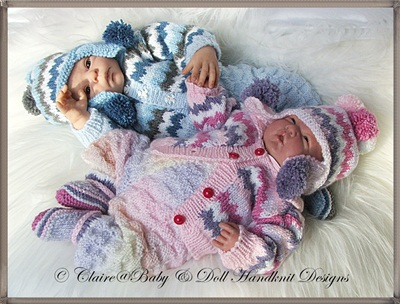 Wavy Striped Suit for 14-18 inch doll/preemie/small newborn