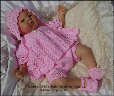 "Lacy Edged Summer Suit 16-22"" dolls/preemie-3m+ baby"