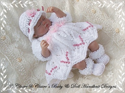 Dress & Shrug Set 10-12 inch doll