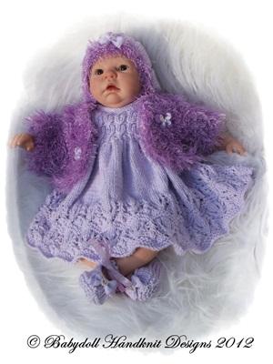 Winter Dress and Bolero set 19-22 inch doll/0-3m baby