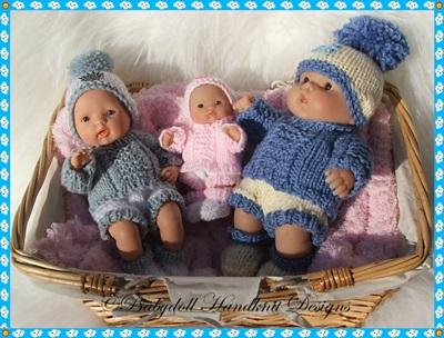 Winter Sweater Set 5-8 inch Berenguers